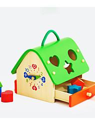 Blocos de Construir Jogos de Madeira para presente Blocos de Construir Casa 3-6 anos de idade Brinquedos