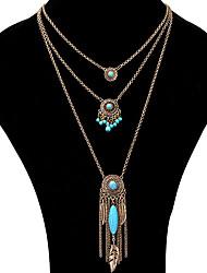 Mujer Collares con colgantes Collares de cadena Collares en capas LegierungDiseño Único Colgante Perla Amistad Joyería de Lujo EEUU