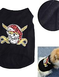 Dog Costume Dog Clothes Cosplay Skulls Black