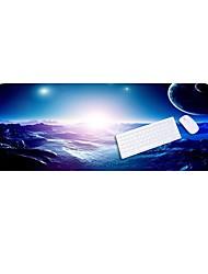 Lo6 синяя коврик для мыши негабаритный толстый замок клавиатура накладка резиновая ткань 100 * 50cm