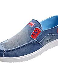 Men's Athletic Shoes Comfort PU Spring Summer Casual Comfort Low Heel Navy Blue Under 1in