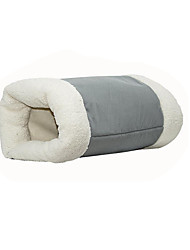 Cat Bed Pet Baskets Color Block Keep Warm Soft Washable Gray