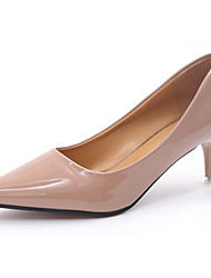 Damen High Heels Pumps Lackleder PU Sommer Normal Kleid Walking Pumps Stöckelabsatz Schwarz Beige Rosa 12 cm & mehr