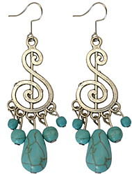 Drop Earrings Women's Euramerican New Fashion Notes.Turquoise earrings Movie Jewelry Party Daily