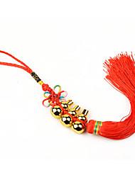 Sac / téléphone / porte-clés charme chinois nœud gourde glands en cuivre