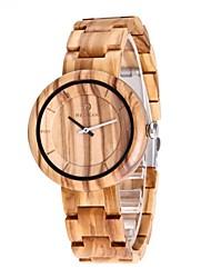 Homens Relógio Madeira Japanês Quartzo de madeira Madeira Banda Luxuoso Elegantes Bege