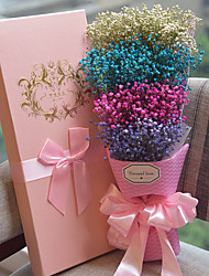 Baby's Breath Valentine's Mother's Day Party Favors & Gifts Artificial Flower Satin  Floral Theme  Gift Box