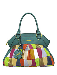 Kate&Co. fashion leather bag / Handbag hand sewn luxury green TH-2208