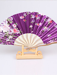 Chinese Fan/Female Classic Silk Fan/Japanese Antique Folding Fan/Folding Fan/Keel Fan