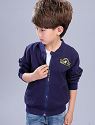 Boys' Patchwork Jacket & Coat,Rayon Spring Fall Long Sleeve
