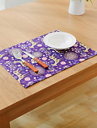 Random Color Cotton And Linen Material Modern Table Pad 25*30cm