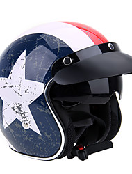 Meio Capacete Simples Capacete com Googles capacetes para motociclistas