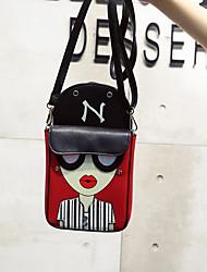 Femme Mobile Bag Phone Polyuréthane Toutes les Saisons Décontracté Baguette Magnétique Bleu Blanc Rouge