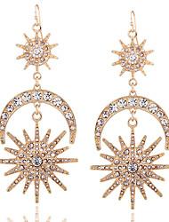 Euramerican Fashion Casual Unique Luxury Female Statement Jewelry Ladies Elegant Drop Earrings For Women Bohemian Dangle Earrings Rhinestone