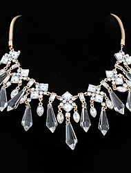New Crystal Pendant Necklace Statement Bohemia Pendant Chain Necklaces Euramerican OL Jewelry For Women  Halloween Birthday Party Movie Gift  Jewelry