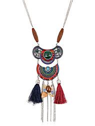 Women's Choker Necklaces Pendant Necklaces Statement Necklaces Metal Alloy Resin RhinestoneEuramerican Handmade Fashion Vintage Bohemian