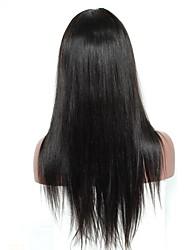 Laço frente perucas de cabelo humano para mulheres pretas seda reta 120% densidade pré arrancada cabelo natural com cabelos remy cabelo do