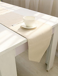 Plain Color Printing Cotton And Linen Material Modern Table Flag 30*180cm