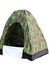 2 Personen Zelt Einzeln Falt-Zelt Einzimmer Camping Zelt 1000-1500 mm Terylen Silber Band Belüftung Schnelles Trocknung Klappbar-Camping