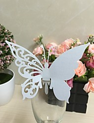 50pcs Party Favors Wedding  Laser Cut Glass Card Butterfly For Wedding Decoration Party Supplies