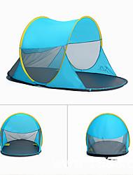 3 a 4 Personas Tienda Tienda de playa Solo Carpa para camping Tienda pop up Resistente a la lluvia A prueba de polvo 1000-1500 mm para