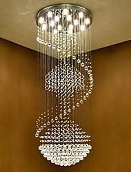 Luminaires de plafonniers en cristal à LED modernes et lumineux à l'intérieur de lampadaires suspendus à domicile avec des ampoules