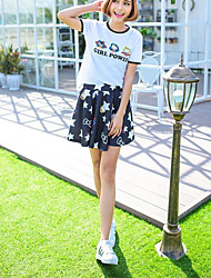 Women's Casual/Daily Above Knee Skirts A Line Geometric Summer