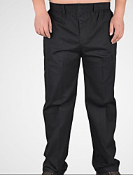 Men's High Waist Micro-elastic Loose Pants,Simple Relaxed Solid