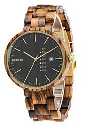 Mulheres Homens Relógio Esportivo Relógio de Moda Único Criativo relógio Relógio Casual Relógio Madeira Chinês QuartzoCalendário