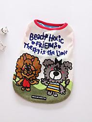 Hund T-shirt Hundekleidung Lässig/Alltäglich Weihnachten Kartoon Orange Rot