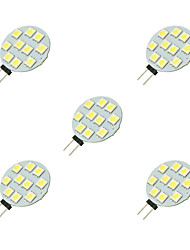 2W LED à Double Broches 10 SMD 5050 160 lm Blanc DC 12 V 5 pièces