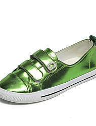Women's Flats Formal Shoes Comfort PU Fall Casual Outdoor Office & Career Dress Walking Formal Shoes Comfort Magic Tape Flat HeelGreen