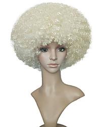 Mujer Pelucas sintéticas Corto Rizado rizado Bleach Blonde Peluca natural Las pelucas del traje