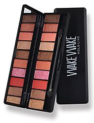 10*4 Paleta de Sombras Mate Brilho Paleta da sombra Maquiagem para o Dia A Dia Maquiagem Esfumada
