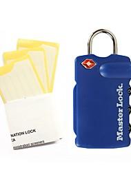 Masterlock 4685dblr senha desbloqueada senha de 3 dígitos bloqueio de senha e bloqueio de senha bloqueio de bagagem bloqueio tsa
