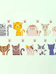 Wall Stickers Wall Decas Style Lovely Cat PVC Wall Stickers