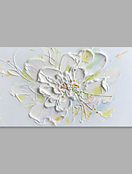 Hand-Painted Floral/Botanical Horizontal,Abstract Modern/Contemporary One Panel Canvas Oil Painting For Home Decoration