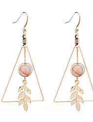 Women's Drop Earrings Imitation Pearl Geometric Fashion Imitation Pearl Alloy Circle Leaf Jewelry For Daily Date