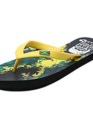 Men's Slippers & Flip-Flops Comfort PU Summer Outdoor Green Flat
