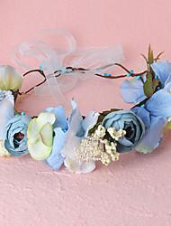 Women's Resin / Fabric / Plastic Headpiece-Wedding / Outdoor Beach Bride Headbands Wreaths 1 Piece Blue / Purple / Pink / Beige