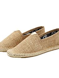 Для мужчин обувь Хлопок Лён Лето Осень Мокасины Эспадрильи Светодиодные подошвы Мокасины и Свитер На эластичной ленте Назначение