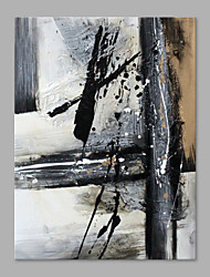 IARTS® Hand Painted Oil Painting Modern Begie & Grey Line Painting Style B Abstract Art Acrylic Canvas Wall Art For Home Decoration
