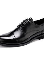 Masculino Sapatos De Casamento Sapatos formais Pele Real Pele Primavera Outono Sapatos formais Preto Menos de 2,5cm