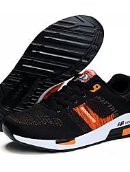 Men's Sneakers Comfort SBR Tulle Spring Fall Outdoor Lace-up Flat Heel Black Dark Blue Royal Blue Under 1in