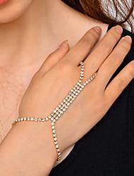 Femme Chaînes & Bracelets Strass Mode Cuivre Strass Bijoux Pour Soirée Quotidien Rendez-vous Soirée & Evénement Décontracté / Quotidien