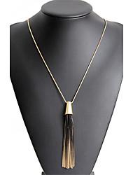 Women's Pendant Necklaces Jewelry Geometric Alloy Dangling Style Tassel Chrismas Elegant Costume Jewelry Durable Religious Jewelry