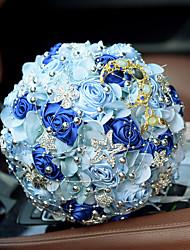 Свадебные цветы Букеты Свадебное белье Бусины Кружево 26 см