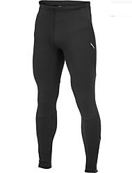 Homens Mulheres Leggings de Corrida Fitness, Corrida e Yoga Meia-calça para Correr Exercício e Atividade Física Algodão Apertado Preto