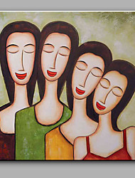 Hand-Painted Abstract Simple Portrait Decoration Oil Painting