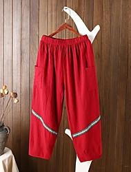 Femme Street Chic Taille Normale strenchy Ample Pantalon,Large Couleur unie Bandes Imprimé
